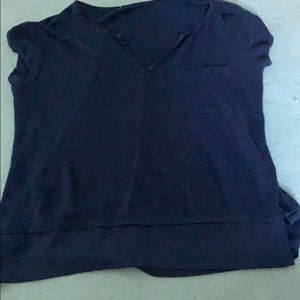 FINAL SALE NAVY theory top!